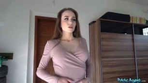 Angel Rush Incredibly beautiful girl agrees to have sex with a guy PublicAgent