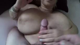Busty BBW PAWG POV Blowjob Titfuck Cum on Tits