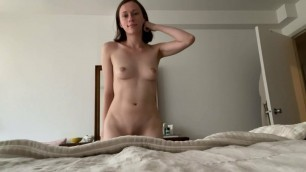 German woman dancing naked for you