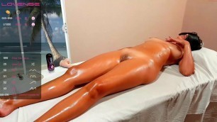 Best blowjob and fuck from the masseur